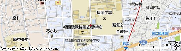 福岡県福岡市早良区荒江周辺の地図