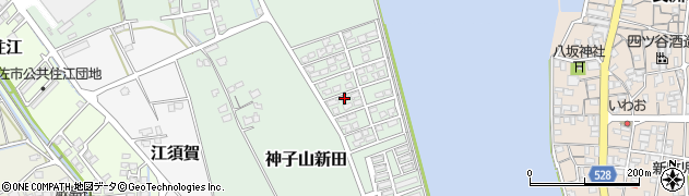 大分県宇佐市神子山新田周辺の地図