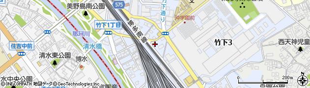 福岡県福岡市博多区竹下周辺の地図