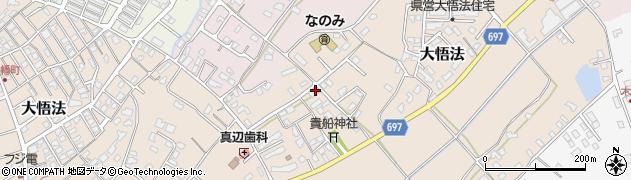 大分県中津市大悟法周辺の地図