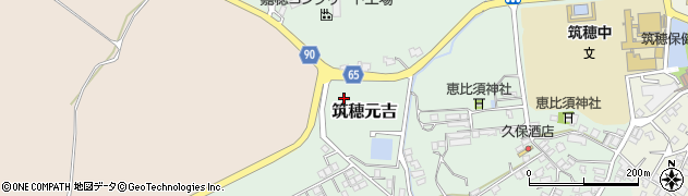 福岡県飯塚市筑穂元吉周辺の地図