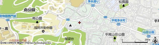 シャトレ南公園管理人室周辺の地図