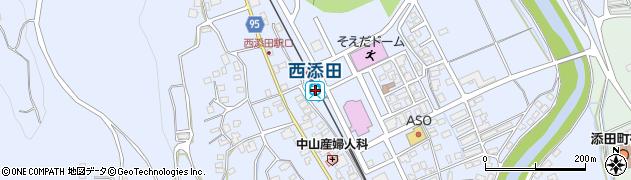 福岡県田川郡添田町周辺の地図