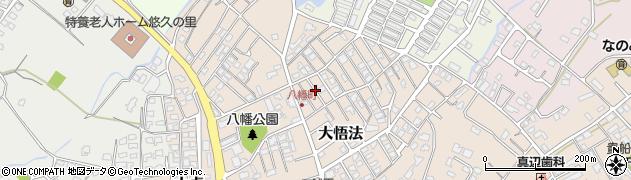 大分県中津市八幡町周辺の地図