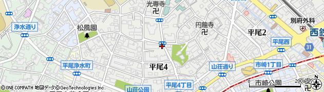 福岡県福岡市中央区平尾周辺の地図