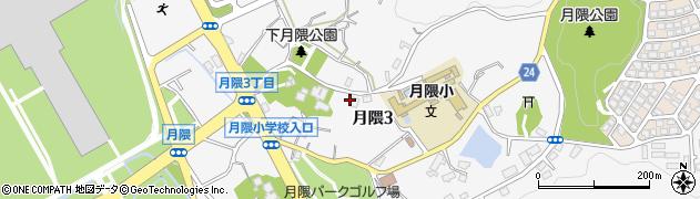 福岡県福岡市博多区月隈周辺の地図