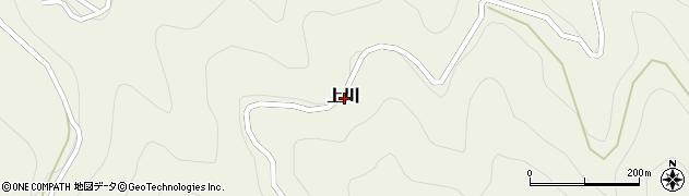 愛媛県喜多郡内子町上川周辺の地図