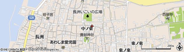 大分県宇佐市長洲(中ノ東)周辺の地図
