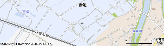 大分県中津市赤迫244周辺の地図
