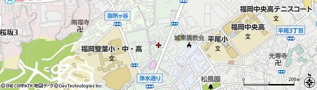 福岡県福岡市中央区浄水通周辺の地図