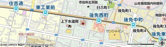 高知県南国市周辺の地図