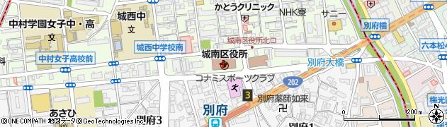 福岡県福岡市城南区周辺の地図
