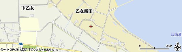 大分県宇佐市乙女新田周辺の地図