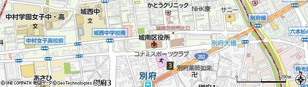 福岡市役所城南区役所 地域保健福祉課・地域包括ケア推進係周辺の地図