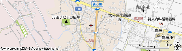 大分県中津市万田周辺の地図