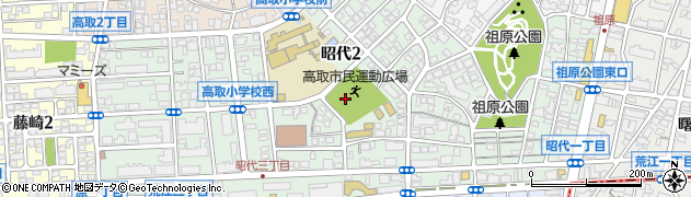 福岡県福岡市早良区昭代周辺の地図