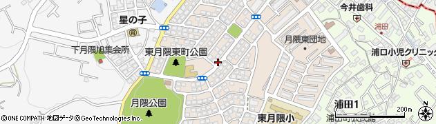 福岡県福岡市博多区東月隈周辺の地図