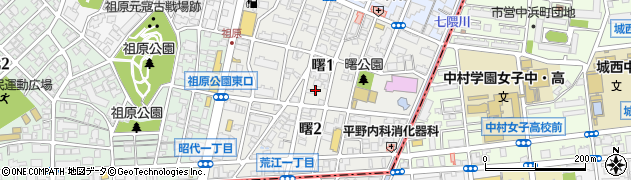 福岡県福岡市早良区曙周辺の地図
