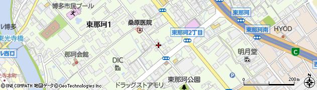 福岡県福岡市博多区東那珂周辺の地図