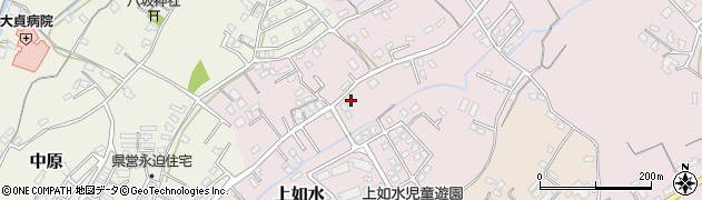 大分県中津市上如水696周辺の地図