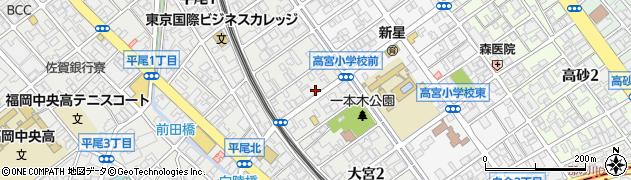 福岡県福岡市中央区大宮周辺の地図