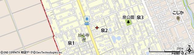 福岡県福岡市西区泉周辺の地図
