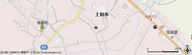 大分県中津市上如水1454周辺の地図