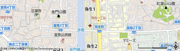福岡県福岡市早良区弥生周辺の地図