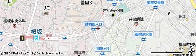 福岡県福岡市中央区古小烏町周辺の地図