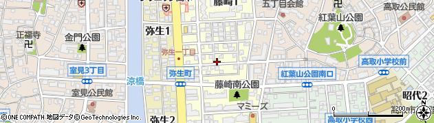 福岡県福岡市早良区藤崎周辺の地図
