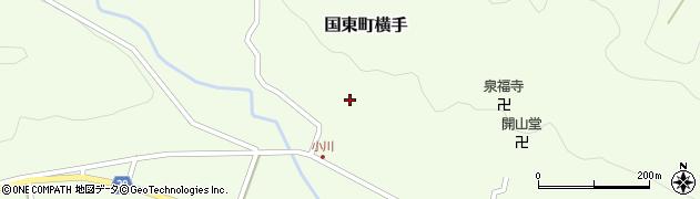 大分県国東市国東町横手小川周辺の地図