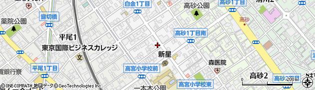 福岡県福岡市中央区白金周辺の地図