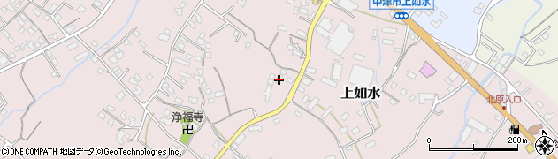 大分県中津市上如水1207周辺の地図