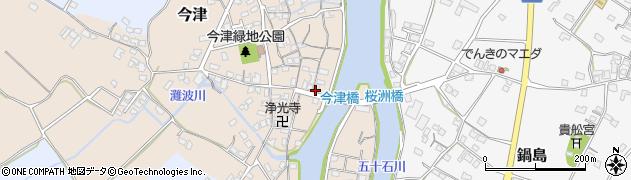 大分県中津市今津258周辺の地図
