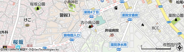 福岡県福岡市中央区薬院伊福町周辺の地図