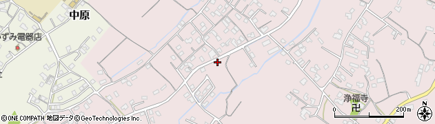 大分県中津市上如水725周辺の地図