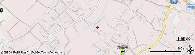 大分県中津市上如水862周辺の地図