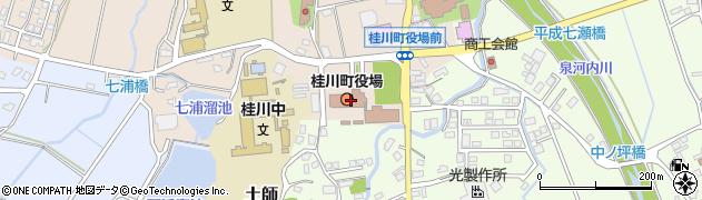 福岡県嘉穂郡桂川町周辺の地図