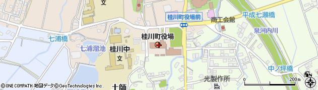 福岡県桂川町(嘉穂郡)周辺の地図