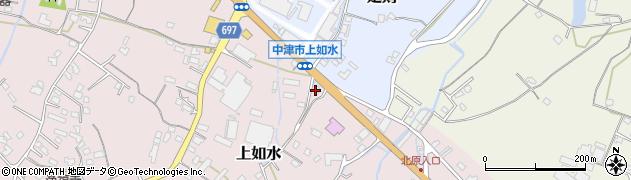 大分県中津市上如水1412周辺の地図