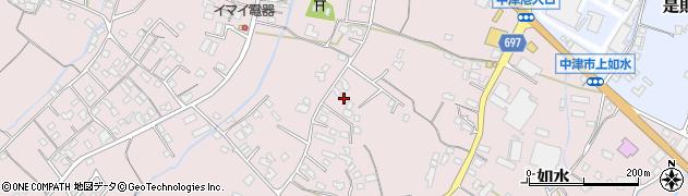 大分県中津市上如水1177周辺の地図
