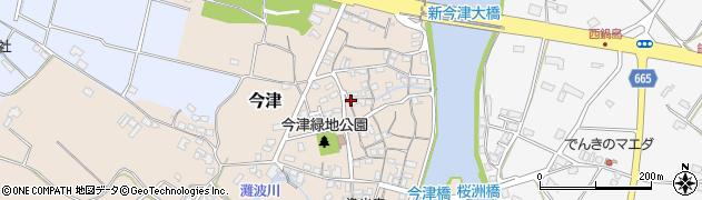 大分県中津市今津296周辺の地図