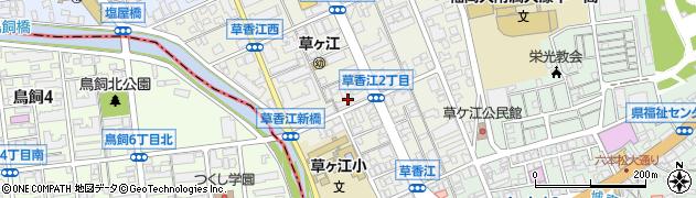 福岡県福岡市中央区草香江周辺の地図