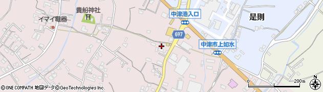 大分県中津市上如水283周辺の地図