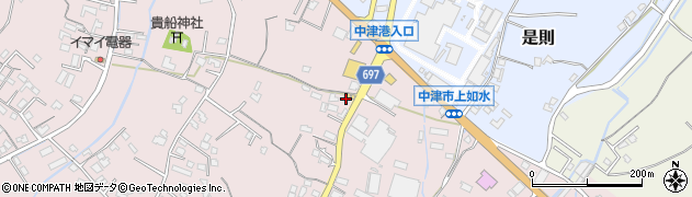 大分県中津市上如水1291周辺の地図