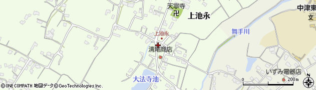 大分県中津市上池永446周辺の地図