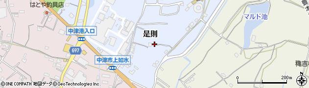 大分県中津市是則1171周辺の地図