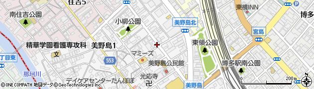 福岡県福岡市博多区美野島1丁目9-7周辺の地図
