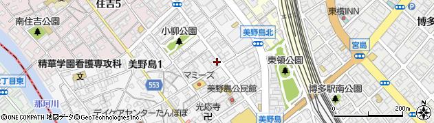 福岡県福岡市博多区美野島1丁目9-5周辺の地図