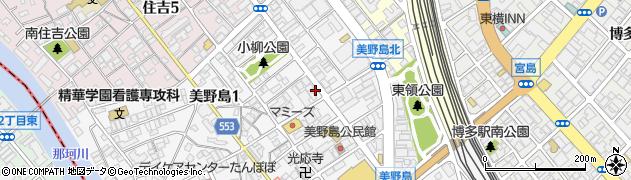 福岡県福岡市博多区美野島1丁目9-4周辺の地図